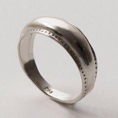 Items similar to Viking ring - sterling silver ring, unisex ring, wedding ring, wedding band, mens ring on Etsy 14k Gold Ring, Sterling Silver Rings, Silver Jewelry, Or Rose, Rose Gold, Viking Jewelry, Viking Rings, Mens Rings Etsy, Groom Ring