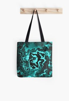 'The King Of The Abyss' All Over Print Tote Bag, print design by Asmo Turunen. #design #totebag #shoppingbag #atcreativevisuals