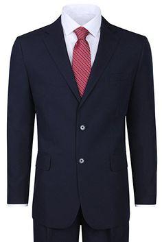 Men's Classic 2 Button Suit - Navy, 52 Regular