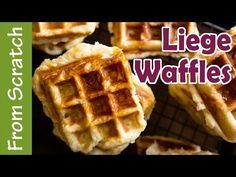 Traditional Belgian Liege Waffle Recipe | Ashlee Marie