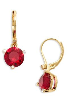 Free shipping and returns on kate spade new york 'rise and shine' lever back earrings at Nordstrom.com. Sparkling crystals dangle beneath elegant drop earrings designed with gold-plated prong settings and lever-back closures.