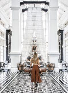 JW Marriott Emerald Bay Vietnam designed by famed architect Bill Bensley, Hotel Lobby Design, Colonial, Lounge Bar, Lobby Lounge, Resort Interior, Koh Chang, Interior Decorating, Interior Design, Decorating Games