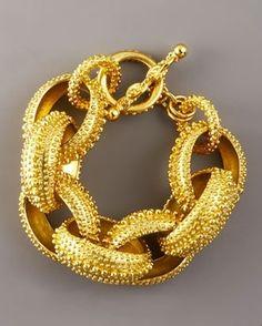 love chunky gold jewelry