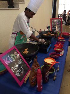 Kids pancake station at Cresendo
