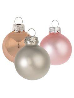Weihnachtskugel-Set, 24-tlg., Glas Jetzt bestellen unter: https://moebel.ladendirekt.de/weihnachten/weihnachtsdeko/?uid=4340549f-febc-553c-bb56-d97cb66f3896&utm_source=pinterest&utm_medium=pin&utm_campaign=boards #weihnachten #weihnachtsdeko #miavilla #xmas