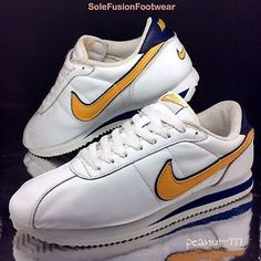 separation shoes 85acb ee2ef Nike -Mens-Cortez-White-Yellow-Trainers-sz-12-VTG-90s-Sneakers-US-13-EU-47-5-RARE