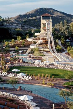 Arizona Grand Resort's guest-only Oasis Water Park has slides, a wave pool and even a lazy river. #Jetsetter