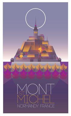 Mont St Michel  impression numérique grand. 270 x par GraffikHeart