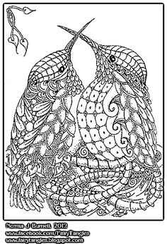 Coloring for adults-kleuren voor volwassenen Animal Coloring Pages, Coloring Pages To Print, Coloring Book Pages, Printable Coloring Pages, Coloring Pages For Kids, Doodles Zentangles, Zentangle Patterns, Stained Glass Patterns, Patterns In Nature