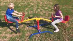 Two-in-one play set - This seesaw can rotate in complete 360 degree. Thanks to its urethane wheels, once a seat goes down, it can be moved Parallel with ease. It is highly resilient against bumps and abrasion. Heavy-duty construction - This Teeter totter is built with a heavy-duty frame that's ensured to carry 300lbs. It has weather-resistant powder coat finish for added durability and protection against corrosion and rust. It's the ideal Playset for outdoors! Play Based Learning, Learning Games, Seesaw, Educational Games, Diy Toys, Diy For Kids, Playground, Rust, Powder