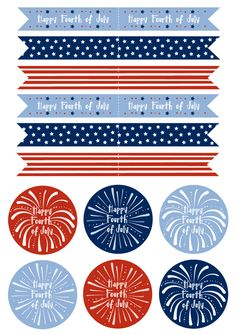Free Fourth of July Cupcake Flag Printable Template 4th Of July Party, Fourth Of July, Patriotic Party, Cupcake Flags, Cupcake Toppers, Diy Cupcake, Planners, Let Freedom Ring, Freebies