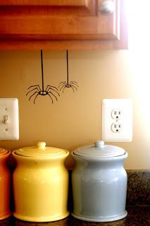 Cute! How about some spiders hanging around the house?!