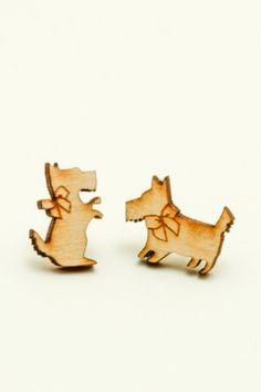 Birch Scottie Dogs Earrings