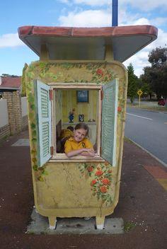 A very happy bus stop.