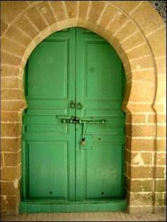 unique antique green doors - Google Search