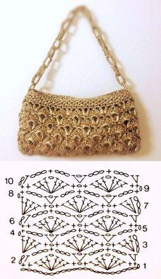 e lucre: 26 modelos de bolsa de com Inspire-se: bolsa de com Bolsas para festas, para praia, para trabalhar. As atuais bolsas em fio de malha. Escolha a sua e Sie Grafikdesign häkeln Free Crochet Bag, Crochet Clutch, Crochet Handbags, Crochet Purses, Crochet Bag Tutorials, Crochet Purse Patterns, Crochet Videos, Crochet Stitches Chart, Crochet Diagram