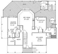 Plan W13140FL: Lower Level deck plan