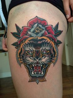 35 Best Neo Traditional Tiger Tattoo Images Traditional Tiger