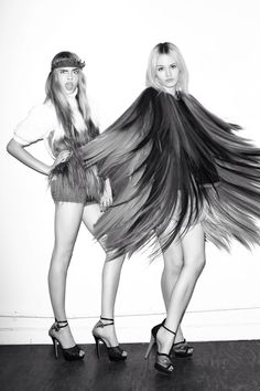 Cara Delevingne & Charlotte Free by Terry Richardson