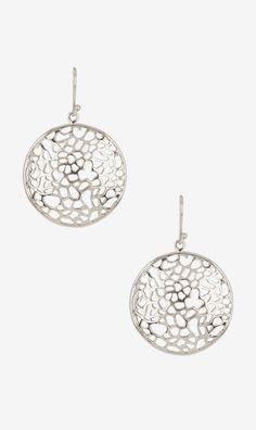 Argento Vivo Lace Domed Drop Earrings