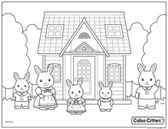calico critters cute family coloring pages printable and coloring book to print for free. Find more coloring pages online for kids and adults of calico critters cute family coloring pages to print. Fox Coloring Page, Bee Coloring Pages, Family Coloring Pages, Farm Animal Coloring Pages, Toddler Coloring Book, Printable Coloring Pages, Coloring Sheets, Coloring Books, Easy Mermaid Drawing