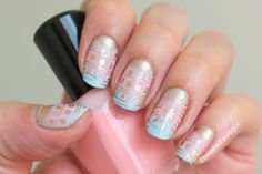 Polished Polyglot: NOTD: Another Easter manicure using MoYou London Festive plate #13
