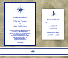 nautical wedding invitations with compass rose | Dulce Press | Compass rose wedding invitation | Online Store Powered ...