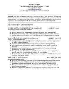 credit analyst resume example resume pinterest resume examples