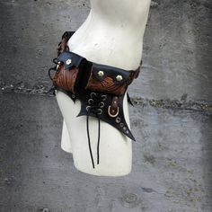 Handmade Deluxe Leather Belt Bag by MisfitLeather on Etsy, $390.00
