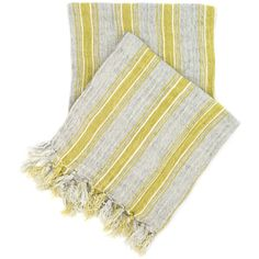 Pine Cone Hill Laundered Linen Ticking Blue Throw. Made of ultrasoft, weighty laundered linen, this fringed throw features classic ticking stripes in a sophisticated combo of slate blue and mossy green. Keep it at the foot of your bed or toss it over the couch for an instant, cozy layer of warmth.