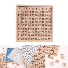 Newest Wooden Montessori Digital Board 1-100 Continuous Numbers Kids Child Math Teaching Toy High Quality Math Toys