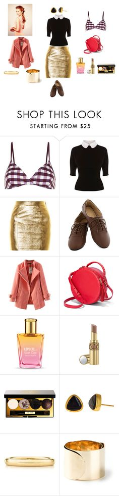 """Noelle 3"" by queenofthesnow ❤ liked on Polyvore featuring Solid & Striped, Karen Millen, Yves Saint Laurent, Chicnova Fashion, The Body Shop, Bobbi Brown Cosmetics, Julie Vos, Elsa Peretti and Maison Margiela"
