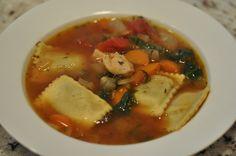 Porcini Ravioli Spinach Soup