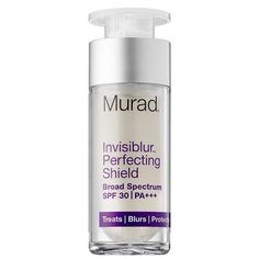 """<p>This sunscreen works to fill in lines, combat signs of aging, and protect against harmful UV rays by using a clear gel formula that makes your skin look airbrushed, even without makeup. <a rel=""""nofollow"""" href=""""https://www.murad.com/invisible-sun-protection-visible-skin-perfection/?XID=SEM_GGL_MU_MURA&medium=cpc&source=google&gclid=CJX1otWaidQCFceNswodX1YK9A&gclsrc=aw.ds"""">Murad Invisiblur Perfecting Shield Broad Spectrum SPF 30</a>, $65. (Photo: Murad) </p>"""