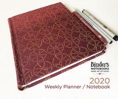 Weekly Planner, Binder, Notebooks, Handmade, Trapper Keeper, Hand Made, Notebook, Teacher Binder, Financial Binder