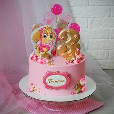 Girls Paw Patrol Cake, Bolo Do Paw Patrol, Paw Patrol Torte, Skye Paw Patrol Cake, Elsa Birthday Party, Baby Birthday Cakes, Bolo Da Peppa Pig, Paw Patrol Birthday Theme, Little Pony Cake