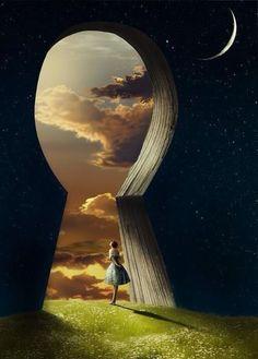 Reminds me of Alice at the portal to wonderland Fantasy Kunst, Fantasy Art, Dream Fantasy, Fantasy Posters, Fantasy Castle, Dream Art, Fantasy World, Art Et Design, Vladimir Kush