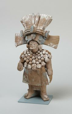 Late Classic Maya Standing official with removable headdress | Princeton University Art Museum