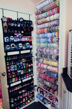 punch & ribbon storage | Flickr - Photo Sharing! #Ribbonstorageideas