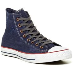 Converse Hi Top Distressed Sneaker (Unisex) ($50) ❤ liked on Polyvore