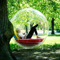 This transparent sphere is described as a 'place of retreat' for people wanting a peaceful place while still allowing interaction with the outside world.  Swiss designers Micasa Lab say their £1,900 Cocoon 1 can be used in a room, outside or even in water.  Users can add storage units, sleeping areas or basic cooking facilities.  The Cocoon 1 will go on sale later this year.