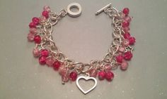 Beautiful pinkcharm braceletwith heart & star charms - The Supermums Craft Fair