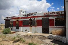 """Route 66 Diner, Twin Arrows, Arizona. """"The Fine Art Photography of Frank Romeo."""""""