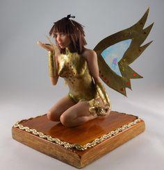 Gold Fairy Art Doll OOAK by Joanna Żarska