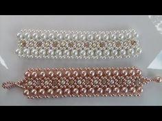 PAP_ de Uma Linda Pulseira de cristais e pérolas, MUITO Linda e bem rápida de fazer, menos de 2 horas vc faz! #pulseira #pulseiras #pulseiradeprata #pulseiraouro