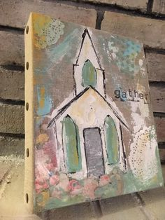 I like the brass tacks on the side of the painting. Church Pictures, Religion, Paintings I Love, Small Art, Bible Art, Christian Art, Pictures To Paint, Medium Art, Painting Inspiration