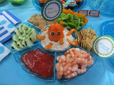 Domestic MOMents: Under the Sea Party. I could make this work for Halloween. Make it a monster or something along those lines.