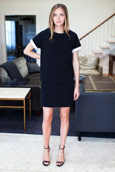 Layering Dress - Jet Double-faced | Emerson Fry