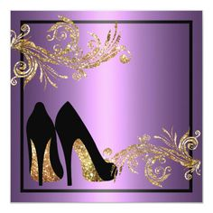 Shop Dancing Shoes - Fabulous Birthday Invitation created by party_depot. Glitter Birthday Parties, 50th Birthday Party Decorations, 60th Birthday Invitations, Birthday Backdrop, Zazzle Invitations, Eid Boxes, Diva Party, 55th Birthday, Avengers Birthday