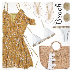 """""""Sun's Out: Beach Day"""" by pokadoll ❤ liked on Polyvore featuring JADE TRIBE, MICHAEL Michael Kors and Dolce&Gabbana"""